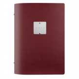 DAG Fashion Leather Menu Cover A5 Bordeaux