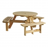 King Round 6 Seater Picnic Table
