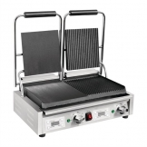 Buffalo Double Half Ribbed Contact Grill