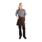 Chef Works Urban Berkeley Denim Half Bistro Waist Apron Black