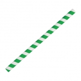Fiesta Green Compostable Paper Smoothie Straws Green Stripes (Pack of 250)