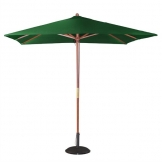 Bolero Square Double Pulley Parasol 2.5m Diameter Green