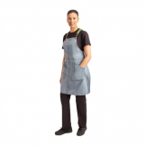 Chef Works Urban Berkeley Denim Brace Bib Apron Sky Blue