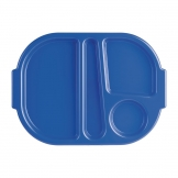 Kristallon Small Polycarbonate Compartment Food Trays Blue 322mm