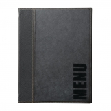 Securit Contemporary Menu Cover Black A5