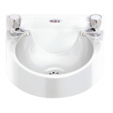 Basix Polycarbonate Wash Hand Basin White