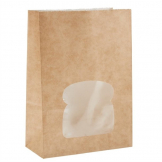 Colpac Recyclable Paper Sandwich Bags With Window Kraft (Pack of 250)