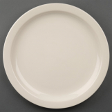 Olympia Ivory Narrow Rimmed Plates 280mm (Pack of 6)