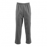 Whites Easyfit Trousers Teflon Black Check XS