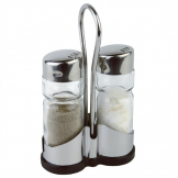 Salt and Pepper Cruet Set and Stand