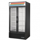 True 2 Glass Door 991L Upright Display Fridge Black GDM-35-HC-LD-B
