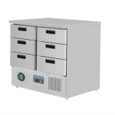 Polar G-Series Refrigerated Counter with 6 Drawers 240Ltr
