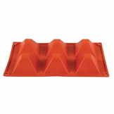 Pavoni Formaflex Silicone Pyramid Mould 6 Cup