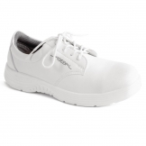 Abeba X-Light Microfiber Lace Up Safety Shoe White 36