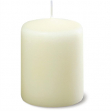 Ivory Pillar Short 3inch Candle