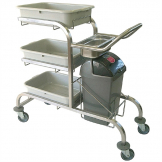 Craven 3 Tier Stainless Steel Bussing Trolley