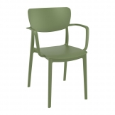 Lisa Arm Chair - Olive Green