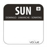 Dissolvable Food Rotation Labels Sunday (Pack of 1000)
