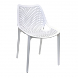 Bolero White PP Mesh Side Chair (Pack of 4)