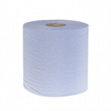 Jantex Blue Centrefeed Rolls 1ply 300m (Pack of 6)