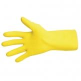 MAPA Vital 124 Liquid-Proof Light-Duty Janitorial Gloves Yellow Medium