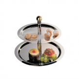Stainless Steel 2 Tier Afternoon Tea Stand