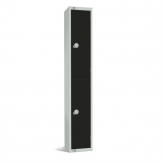 Elite Double Door Coin Return Locker Graphite Black
