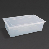 Vogue Polypropylene 1/1 Gastronorm Container with Lid 150mm (Pack of 2)