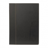 Securit Contemporary Wine List Cover Black A4