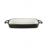 Vogue Black Rectangular Cast Iron Dish 1.8Ltr