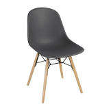 Bolero PP Moulded Side Chair Charcoal with Spindle Legs (Pack 2)