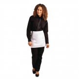 Whites Short Bistro Apron White