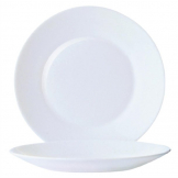 Arcoroc Opal Restaurant Wide Rim Plates 235mm (Pack of 6)