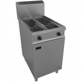 Falcon Chieftain Twin Tank Twin Basket Free Standing Natural Gas Fryer G1848X