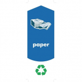 Rubbermaid Paper Recycling Stickers (Pack of 4)