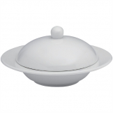 Elia Glacier Fine China Covered Butter Dishes 115mm (Pack of 4)