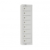 Elite Personal Effects Locker 8 Door Grey Camlock
