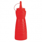 Vogue Red Lidded Sauce Bottle