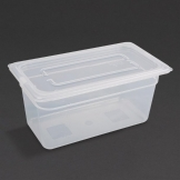 Vogue Polypropylene 1/3 Gastronorm Container with Lid 150mm (Pack of 4)
