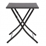 Bolero Square PE Wicker Folding Table Black 600mm (Single)