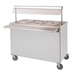 Moffat Mobile Hot Cupboard with Dry Heat Bain Marie 2FBM