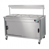 Moffat Mobile Hot Cupboard with Dry Heat Bain Marie 4FBM