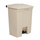 Rubbermaid Step On Pedal Bin Beige 68Ltr