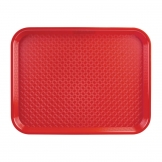 Kristallon Medium Polypropylene Fast Food Tray Red 415mm