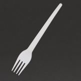 Fiesta Lightweight Disposable Plastic Forks White (Pack of 100)