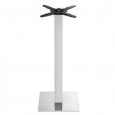 Boston - Brushed Steel Small Square Poseur Table Base