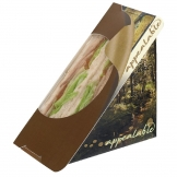 Colpac Recyclable Self-Seal Sandwich Wedges Woodland Print