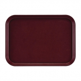 Cambro EpicTread Fibreglass Rectangular Non-Slip Tray Burgundy 415mm