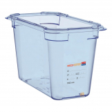 Aravan ABS Food Storage Container Blue GN 1/3 200mm