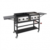 Buffalo 6 Burner Combi BBQ Grill and Griddle